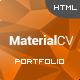Material CV - Personal CV HTML Template