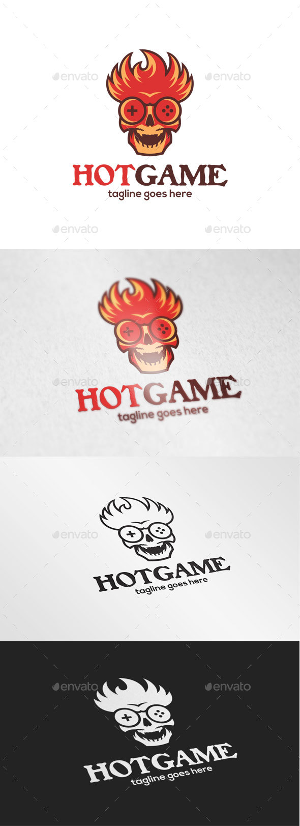 Fire Skull Game Logo