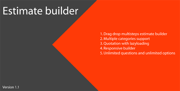 Estimate Builder - CodeCanyon Item for Sale