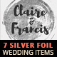 7 Silver Hot Foil Items - Wedding Pack