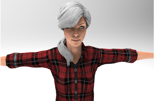 3d model of a Woman - 3DOcean Item for Sale
