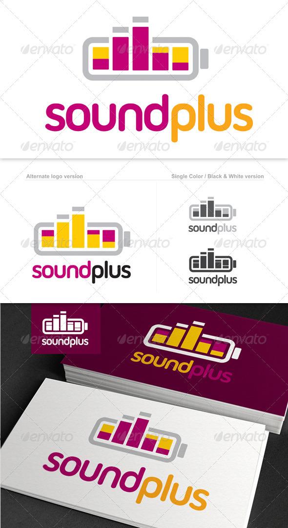 GraphicRiver Sound Plus Logo 1565594