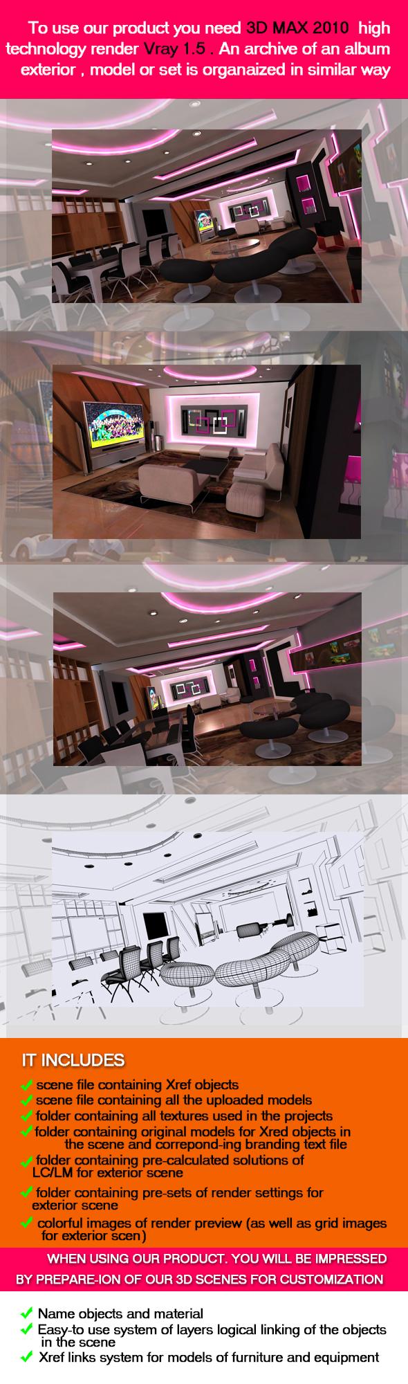 3D Reception - 3DOcean Item for Sale