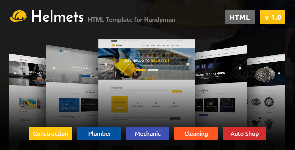 Helmets - HTML Template for Handyman