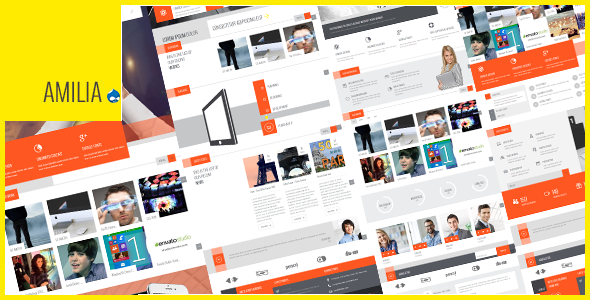 Amilia - Multipurpose One & Multi Page Drupal Theme