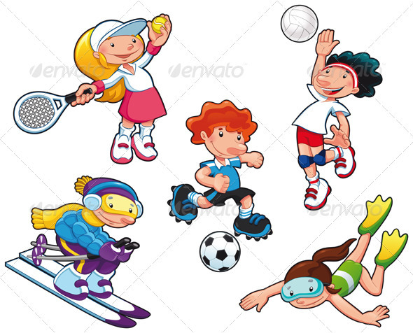 GraphicRiver Sport characters 1566364