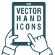 Vector Hand Icons - Touch Screen