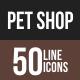 Pet Shop Line Multicolor Icons