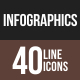 Infographics Line Multicolor Icons