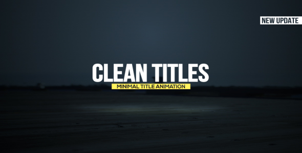Clean Titles-Videohive中文最全的AE After Effects素材分享平台