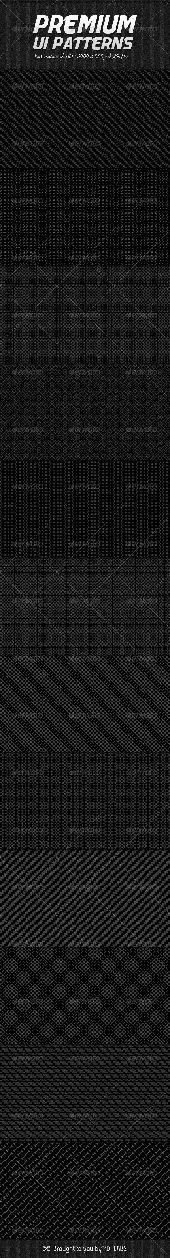 Graphic River 12 Premium Patterns Graphics -  Backgrounds  Patterns 1566851
