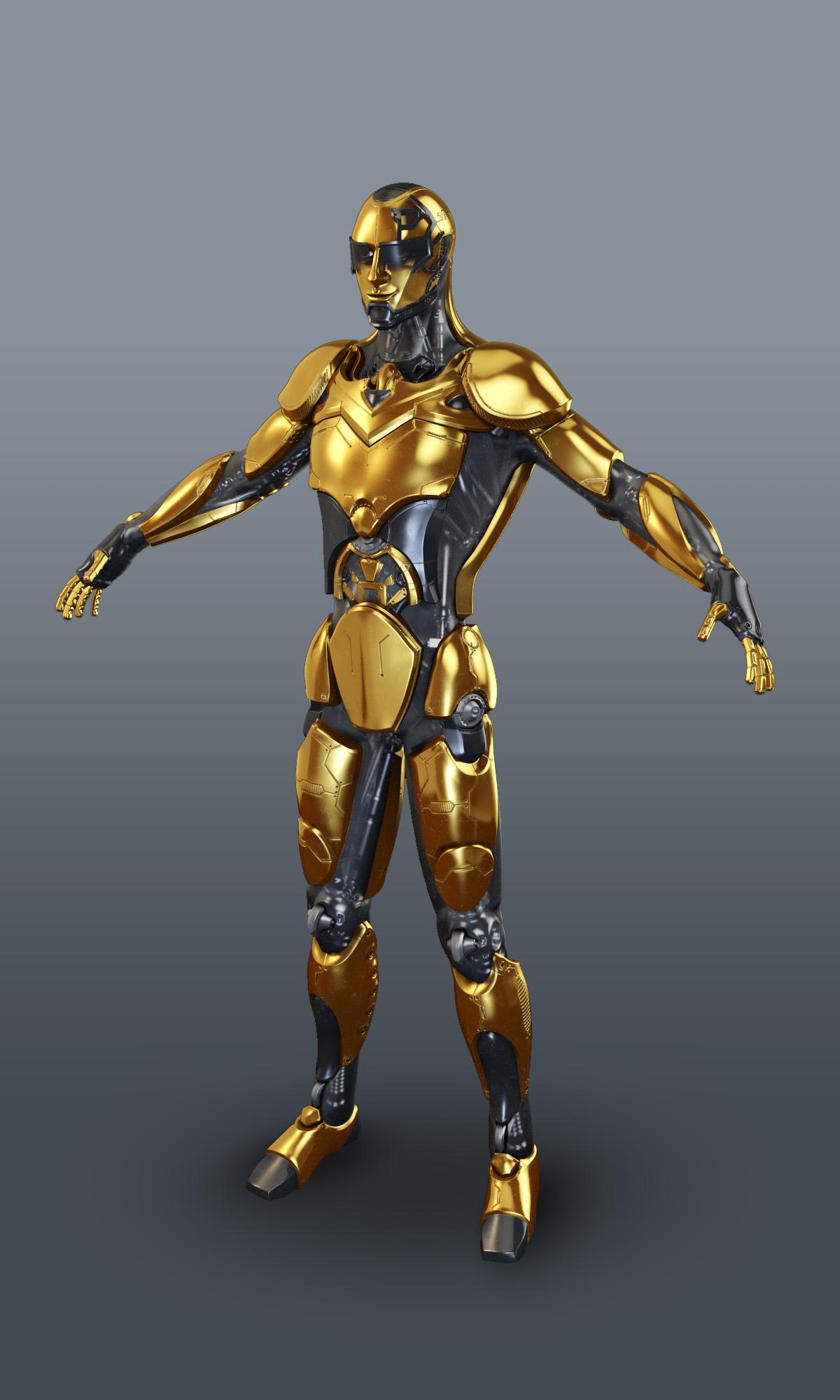 Sci Fi Robot 3d Model By Dshubin 3docean