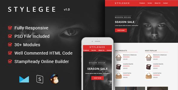 Stylegee - Multipurpose & Responsive Email Template + Builder