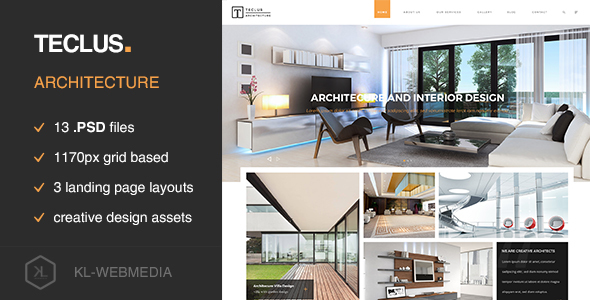 Teclus - Architecture PSD Template