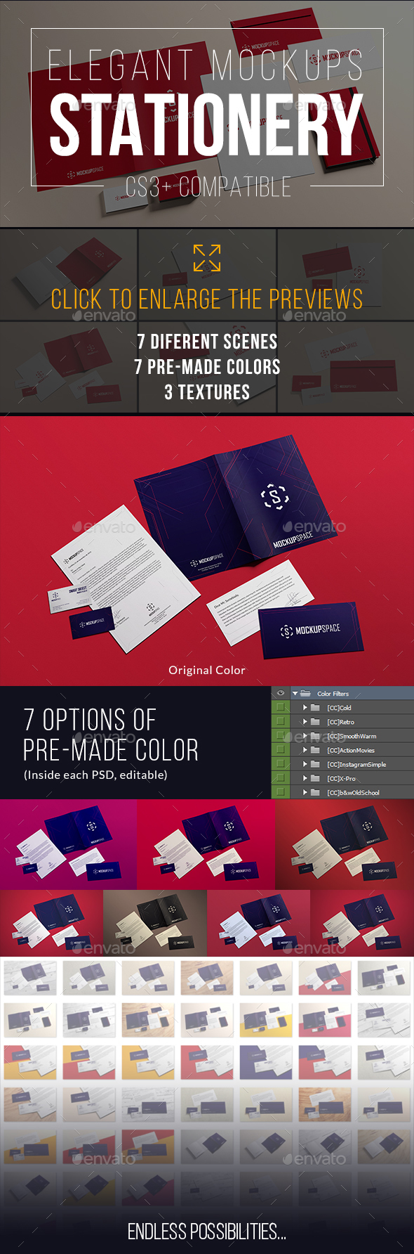 Stationery / Branding Mock-Ups Vol. 2 (Stationery)
