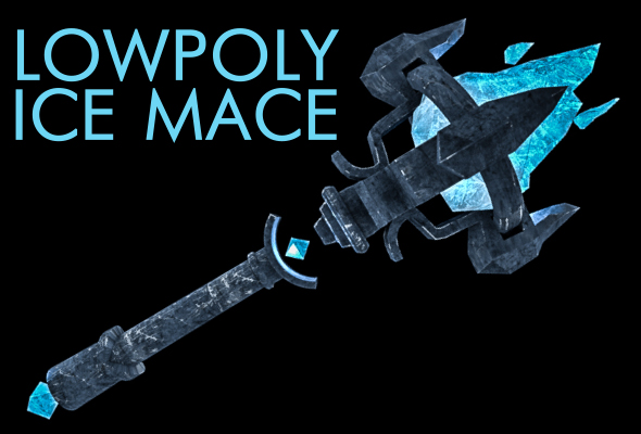 Lowpoly ice mace - 3DOcean Item for Sale