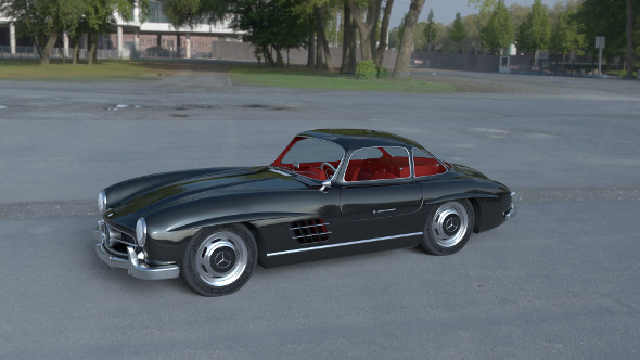 Rigged Mercedes 300SL Gullwing with Interior HDRI - 3DOcean Item for Sale