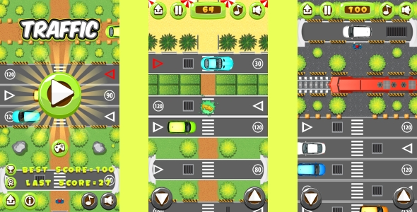 Traffic - HTML5 Game, Mobile Vesion+AdMob!!! (Construct-2 CAPX)