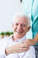Senior man grateful for the care