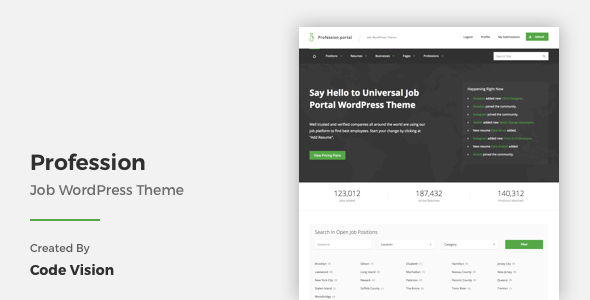 25 - Profession - Job WordPress Theme