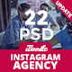 Agency Instagram Banners Ads - 22 PSD