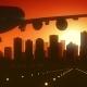 Edmonton Skyline Sunrise Landing
