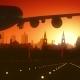 Leeds Skyline Sunrise Landing