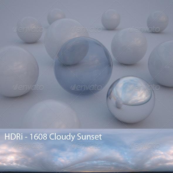 3DOcean HDRi 1608 Cloudy Sunset CG Textures -  HDRI Images  Exterior  Sky  Low Light 1568026