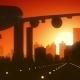 Atlanta Skyline Sunrise Landing