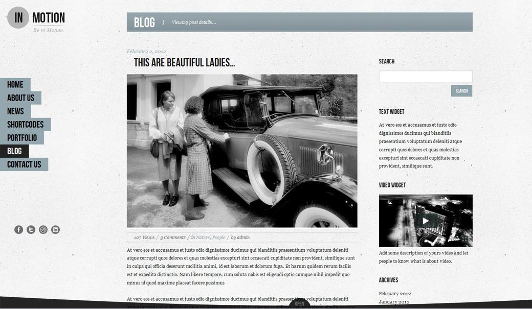 IN-MOTION Wordpress One page slide