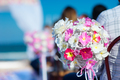 Beautiful decor at a wedding ceremony on the beach