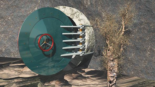 Bunker Door (Opened) - 3DOcean Item for Sale