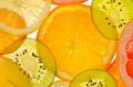 Different sliced juicy citrus