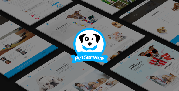 Pet Service - A Pet Services PSD Template