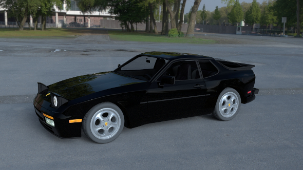 Porsche 944 Turbo with interior HDRI - 3DOcean Item for Sale