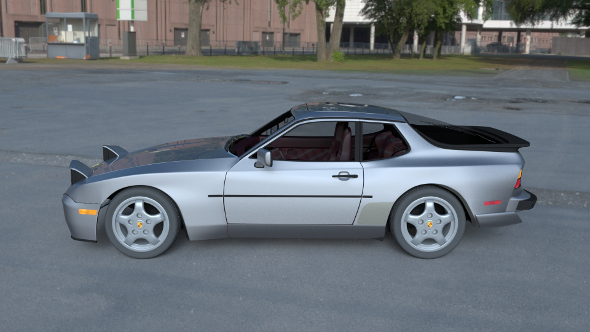 Porsche 944 Turbo S with interior HDRI - 3DOcean Item for Sale