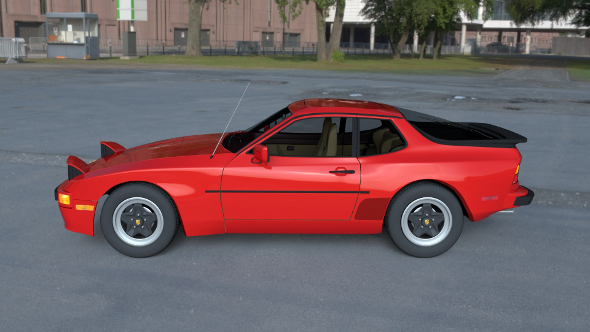 Early Porsche 944 with interior HDRI - 3DOcean Item for Sale