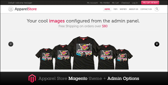 01 main.  large preview - Apparel Store Magento theme