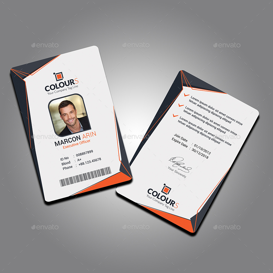 Office id card by sucharu neal graphicriver for Best home office video cards