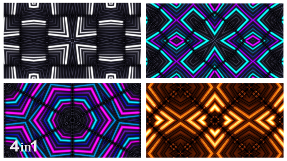 VideoHive Flashing Colorful Lights Abstract 4-Pack 15696100