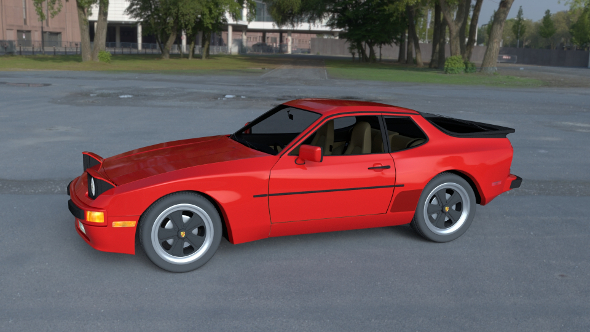 Porsche 944 with Interior HDRI - 3DOcean Item for Sale