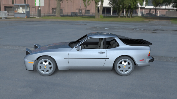 Porsche 944 S2 with Interior HDRI - 3DOcean Item for Sale