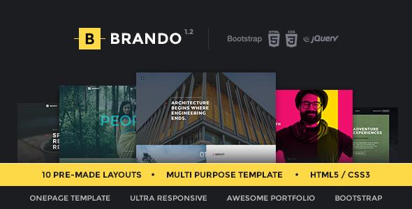 12. Brando Responsive & Multipurpose OnePage Template