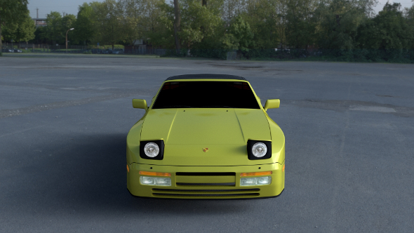 Porsche 944 Convertible HDRI - 3DOcean Item for Sale