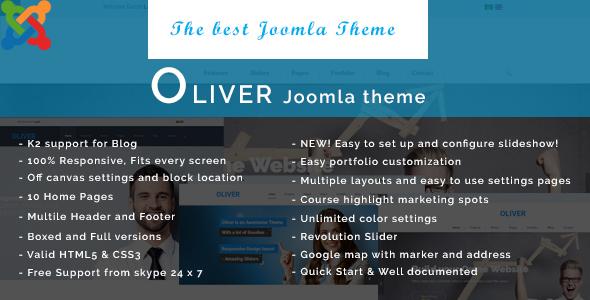 Oliver - Responsive Multipurpose Joomla Template