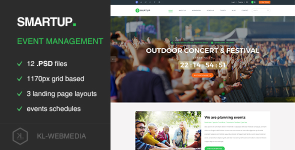 Smartup - Event Management PSD template