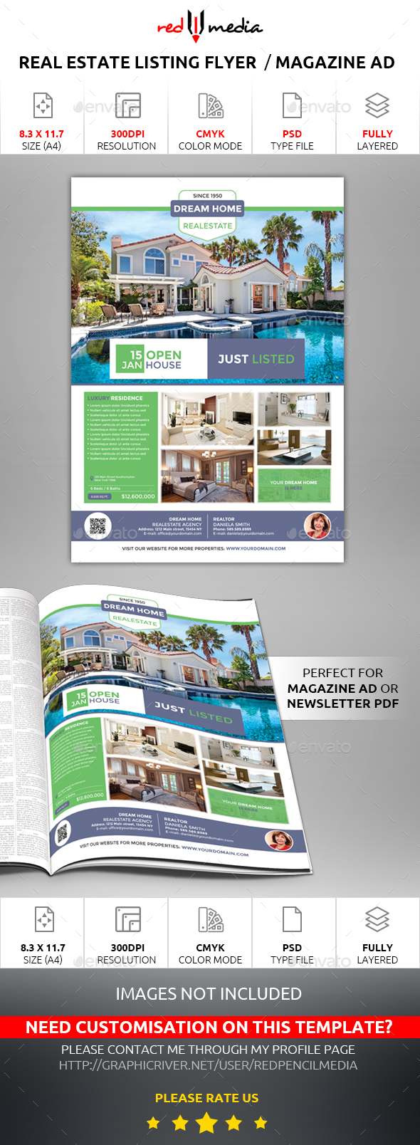 Real Estate Listing Flyer / Magazine AD