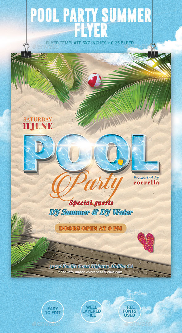 Pool Party Summer Flyer