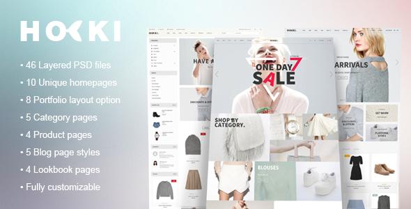 Hoki - eCommerce PSD Template