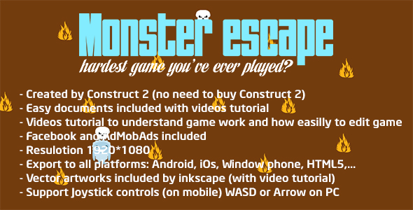 Brain training - Monster escape (Facebook & Admod & Live preview) - CodeCanyon Item for Sale